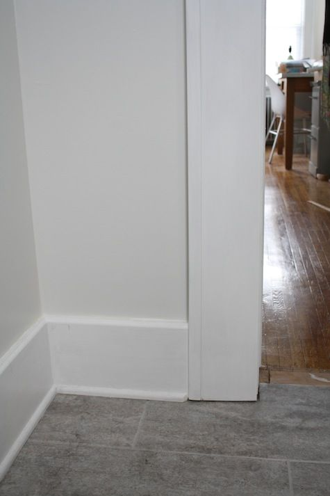 Interior door trim options door trim meets floor trim Modern floor molding
