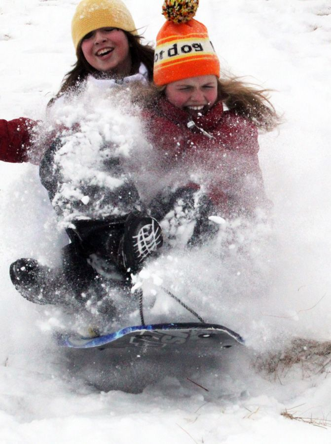 Snow day? Spend the day sledding at Waveland Golf Course hills!