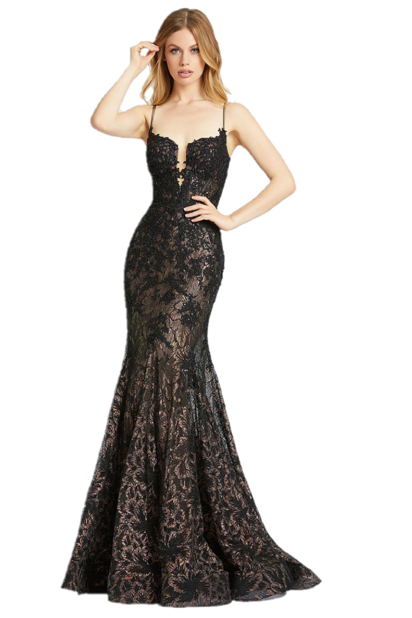 Mac Duggal 79252m Metallic Lace Sheer Corset Mermaid Prom Dress Pageant Gown In 2021 Mermaid Prom Dresses Mac Duggal Dresses Mac Duggal Prom [ 2048 x 1365 Pixel ]