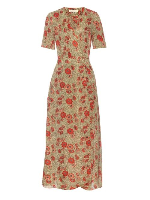 9c35390fc ISABEL MARANT ÉTOILE Shania Slavic wrap-front maxi dress | Fashion ...