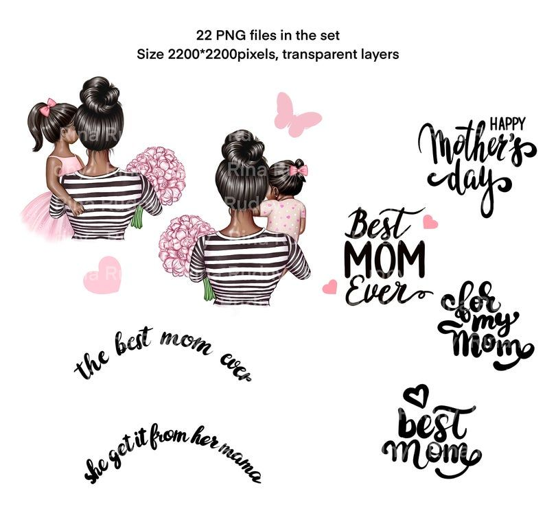 Mother and daughter clipart parent clipart,Mommy PNG Mother\u2019s Day Mother of girl clipart Mother daughter clipart