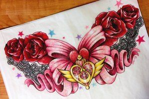 Sailor Moon Sternum Design Commission For Sam By 16shokushu On Deviantart Sailor Moon Tattoo Moon Tattoo Designs Chest Piece Tattoos