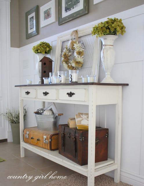 Entry Way DIY Console Table From Country Girl Home