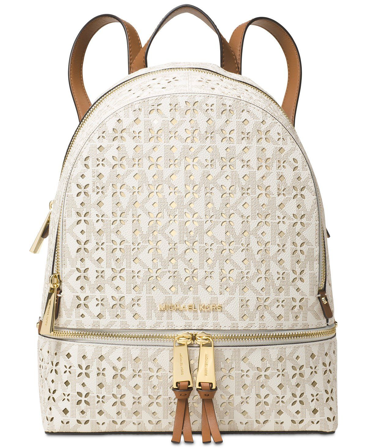 8e7edf50c7b4 MICHAEL Michael Kors Rhea Zip Medium Backpack (Vanilla) | Michael ...