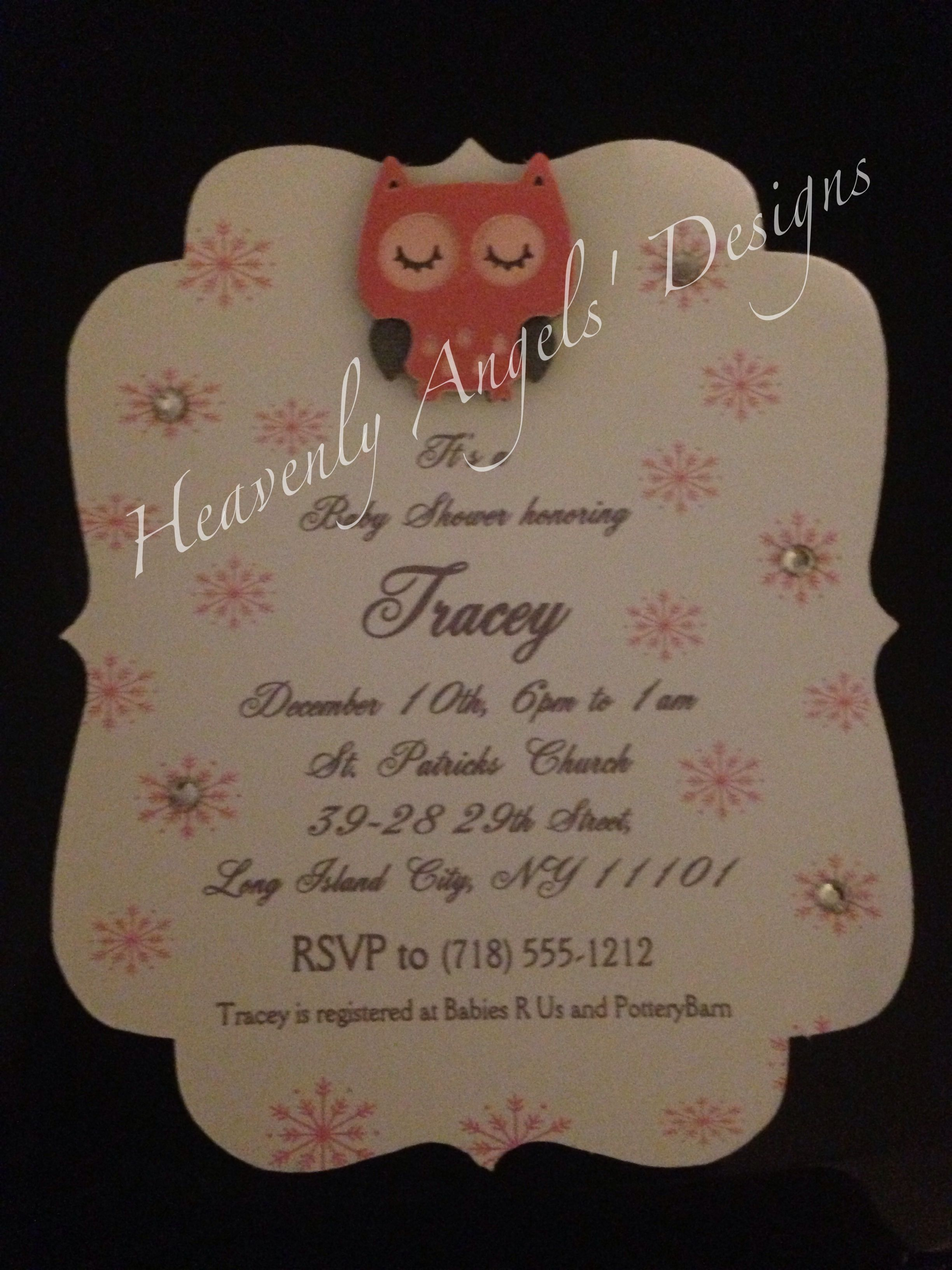 3d owl baby shower invitation baby shower pinterest babies