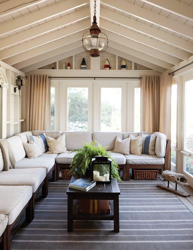 Home Additions Sunroom Decorating Four Seasons Room: 30+ Idées Pour Donner Du Style Au Chalet