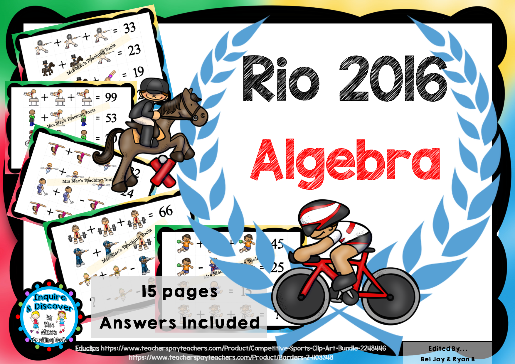 This Rio Summer Games Algebra Worksheets Will Get Your