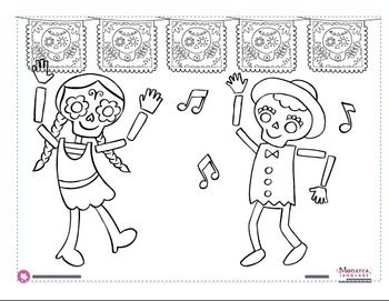 Worksheets Dia De Los Muertos Worksheets dia de los muertos coloring pages page muertos