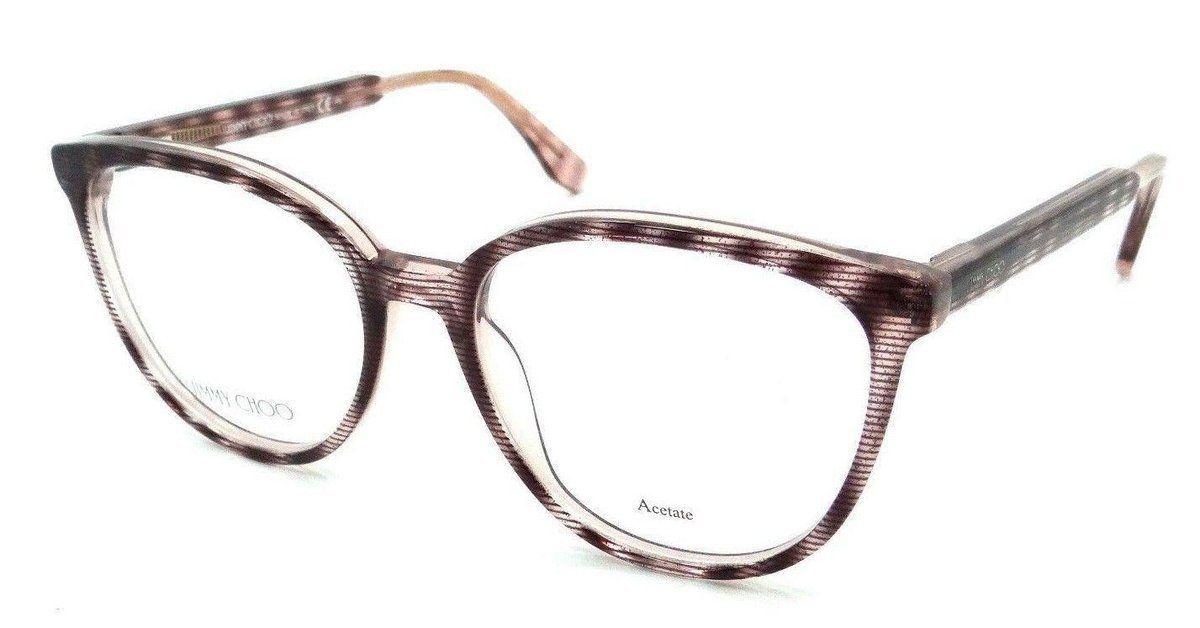 2ad63d83486a Jimmy Choo Rx Eyeglasses Frames JC 139 LX9 53-17-140 Striped Glitter Red  Italy