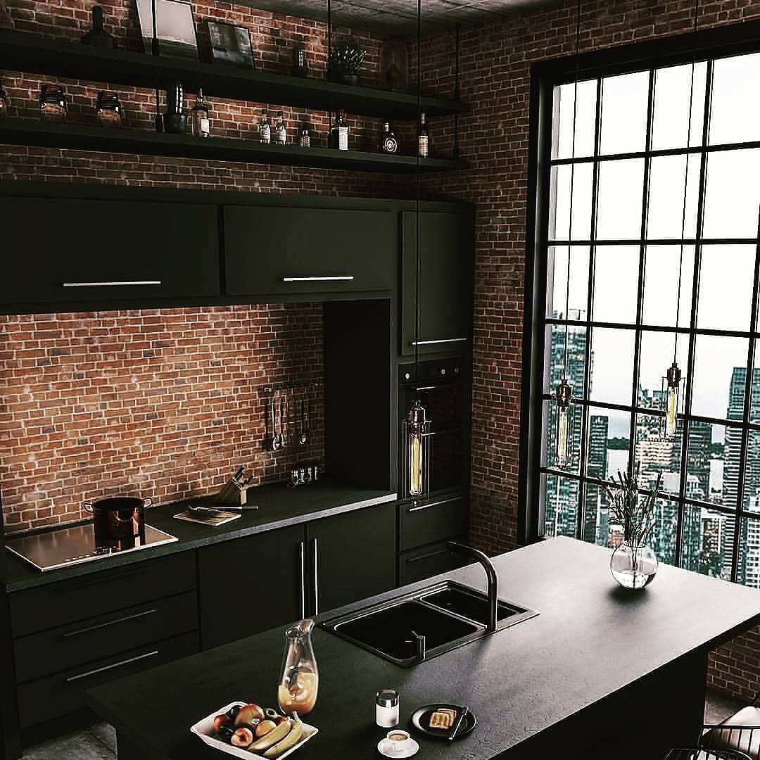 sleek kitchen with a city view realestate realestateagent homeinspiration homeinspo on kitchen interior top view id=29837