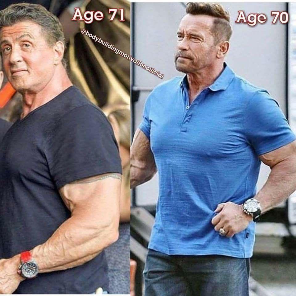 Sylvester Stallone 72 Arnold Schwarzenegger 71