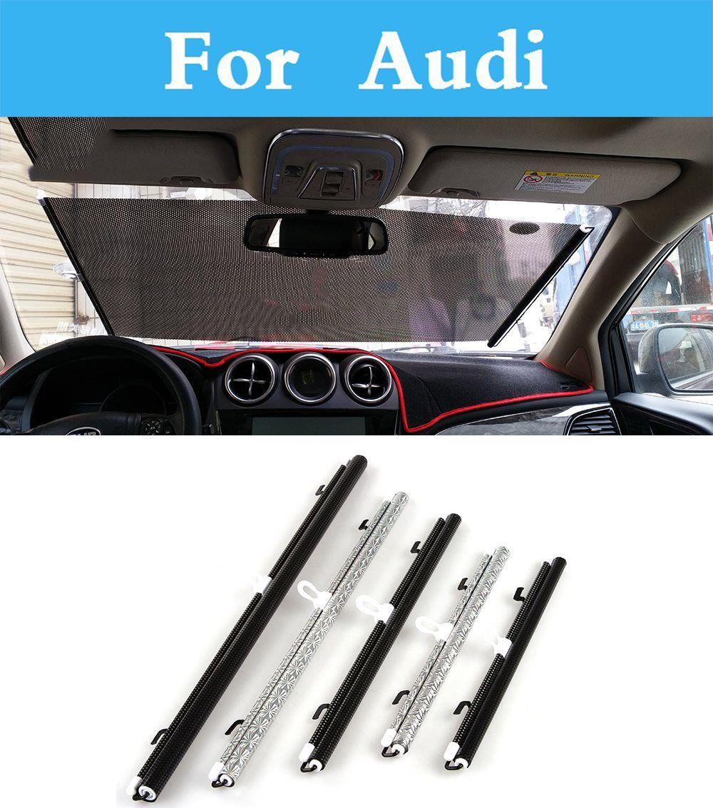 Car Style Retractable Windshield Sunshade Auto Shade Cover Visor For Audi A8 Q3 Q5 A6 A3 A7 Q7 A4 A5 Car Shade Car Windshield Exterior Accessories