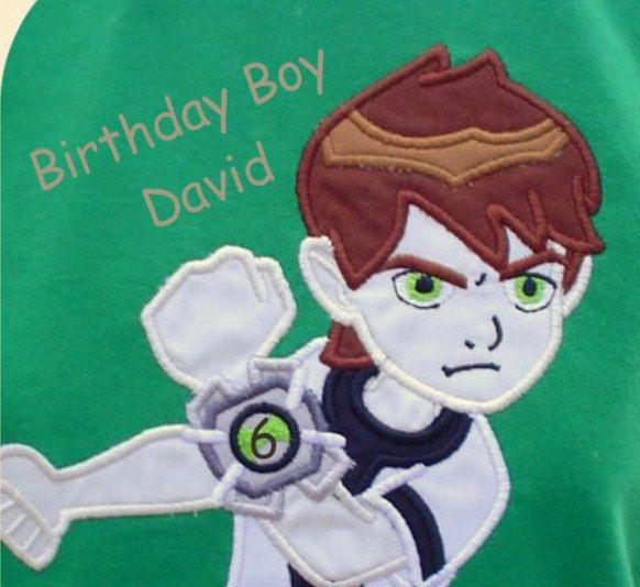 CUSTOM Ben10 Boys Appliqued Birthday Shirt OR By LilliansCloset 2999