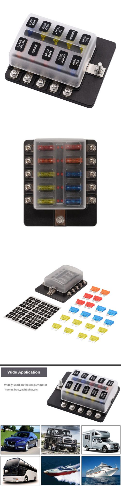 10way 100a Blade Fuse Box Block Holder Included For Car Boat Light 12v 24v Ma1286 Fuses And Holders 50551 Pinterest Boating