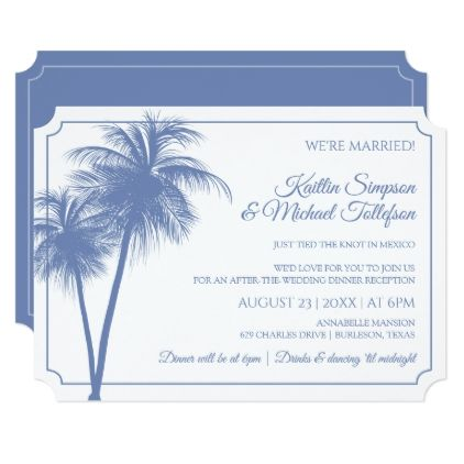 Destination Palm Tree Invitation