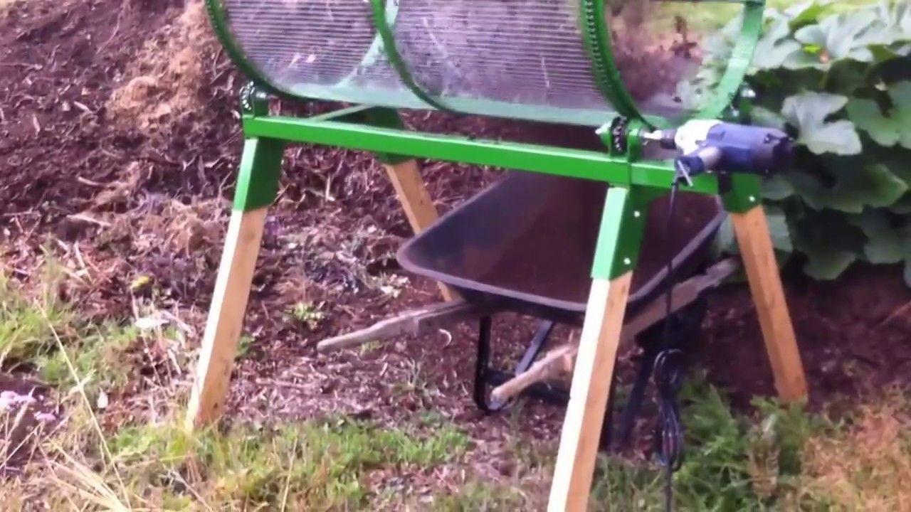 Topsoil Compost Screen Youtube Erdsieb Garten Werkstatt Werkzeuge