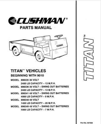ezgo 837638 1990 1994 parts manual for cushman titan utility vehicle rh pinterest com Cushman Owner's Manual Cushman Owner's Manual