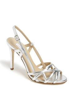 DIANE VON FURSTENBERG 'Upton' Metallic Leather Sandal