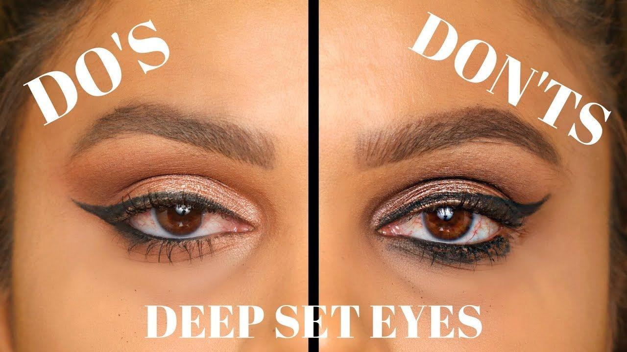 Deep Set Eyes Do S And Don Ts Makeup Eyeshadow Winged