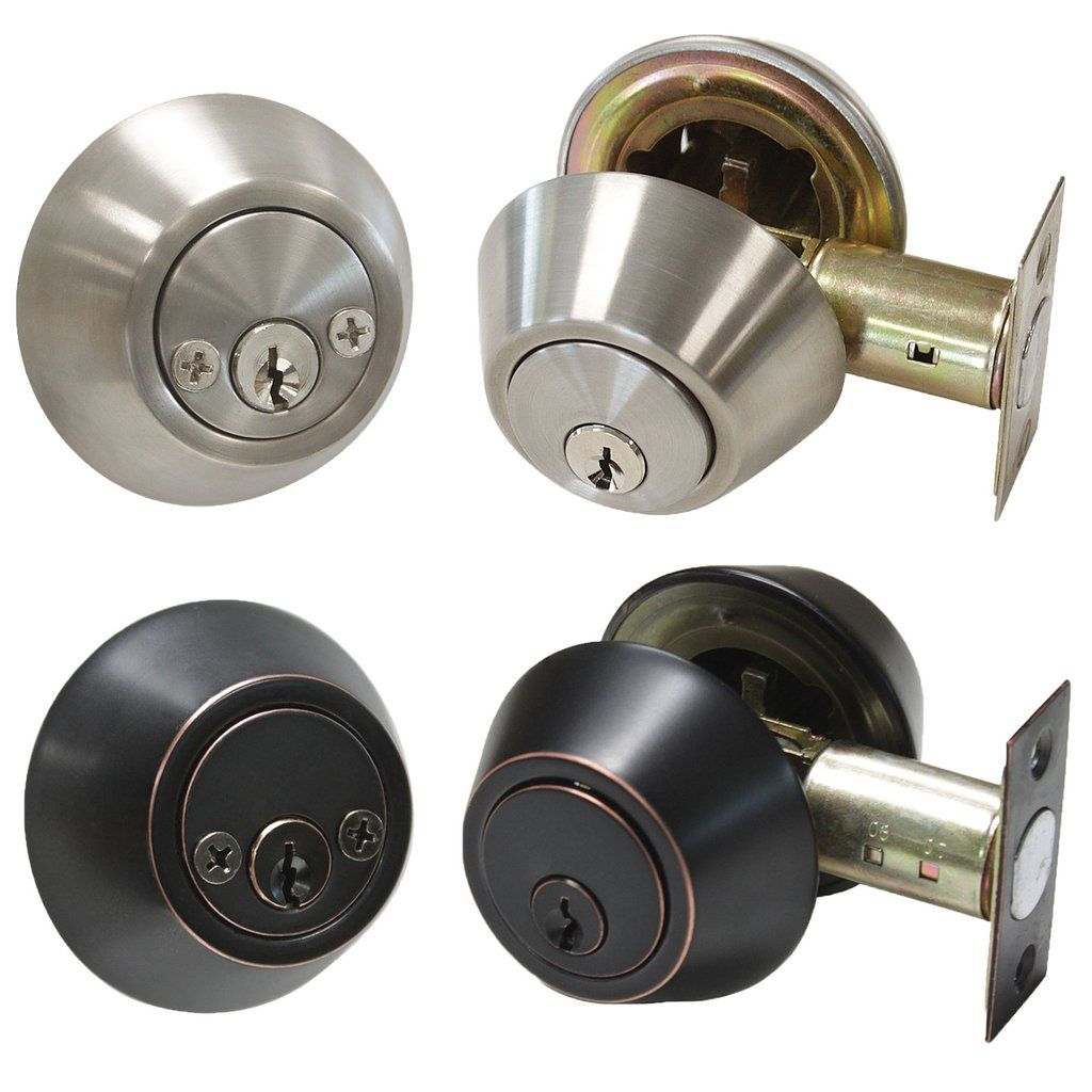 Keyed Entry Deadbolts Stainless Steel Double Cylinder Deadbolt Lock Brushed Nickel Oil Rubbed Bronze Finish Double Cylinder Deadbolt Deadbolt Lock Deadbolt