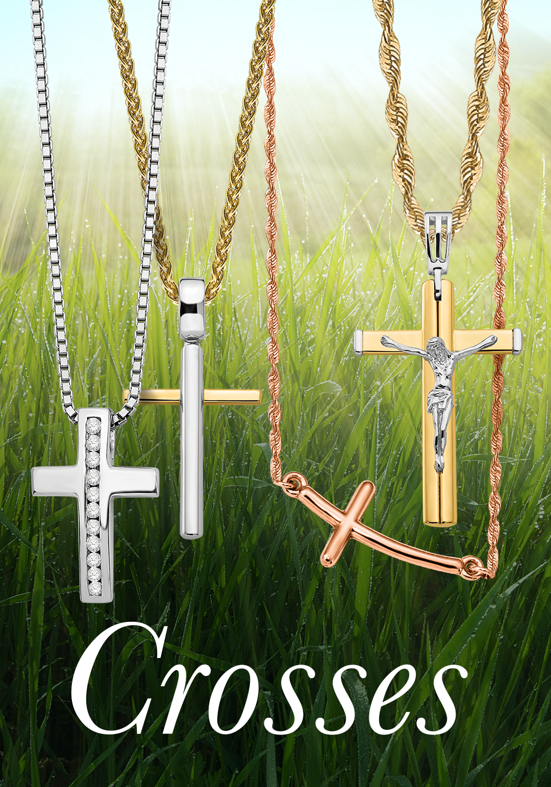 Wear your faith proudly with our collection of religious cross wear your faith proudly with our collection of religious cross pendants quality gold offers a aloadofball Images