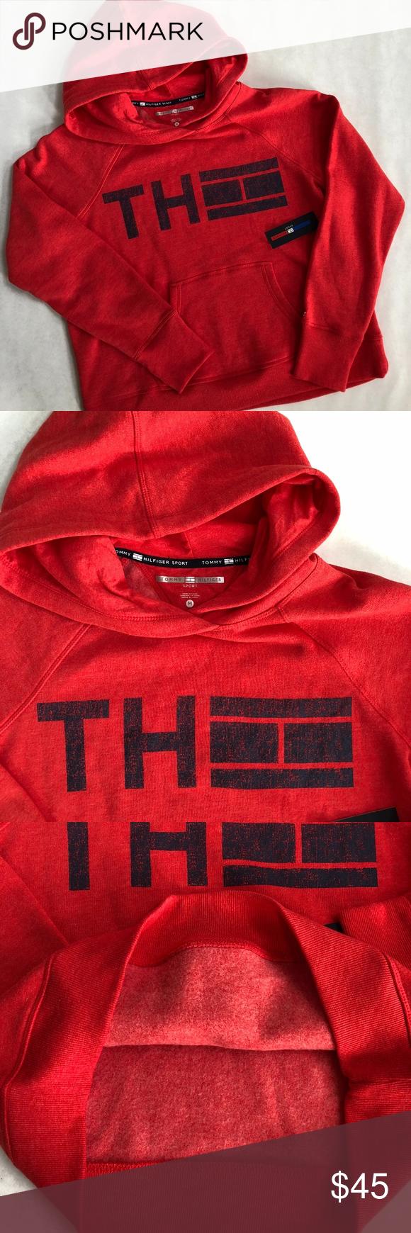 Tommy Hilfiger Th Logo Flag Red Blue Sweatshirt Sweatshirts Blue Sweatshirt Tommy Hilfiger