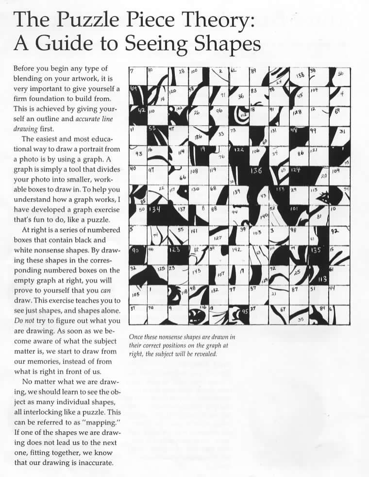 create a gridded puzzle - Google Search | Last Minute Art ...