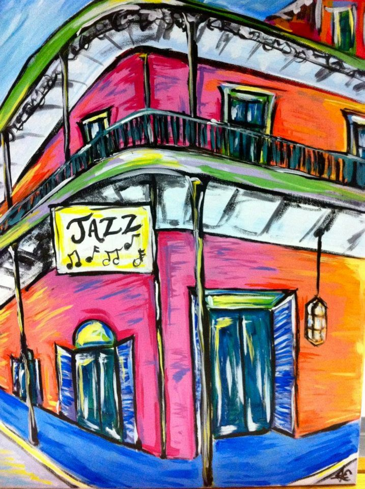 French Quarter Painting with a Twist Painting, La art