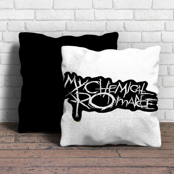 This Is My Chemical Romance Music Band Logo Pillow Cushion Removable Poly Cotton Cover Pillows Are Soft And Wrinkle Free Hidden Emo