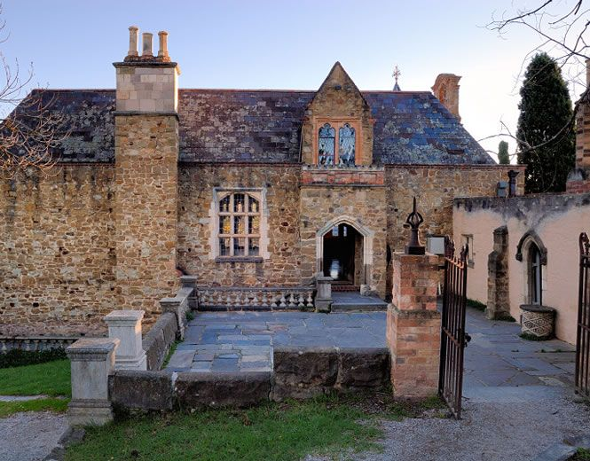 Backview Of The Great Hall At Montsalvat Australias Oldest