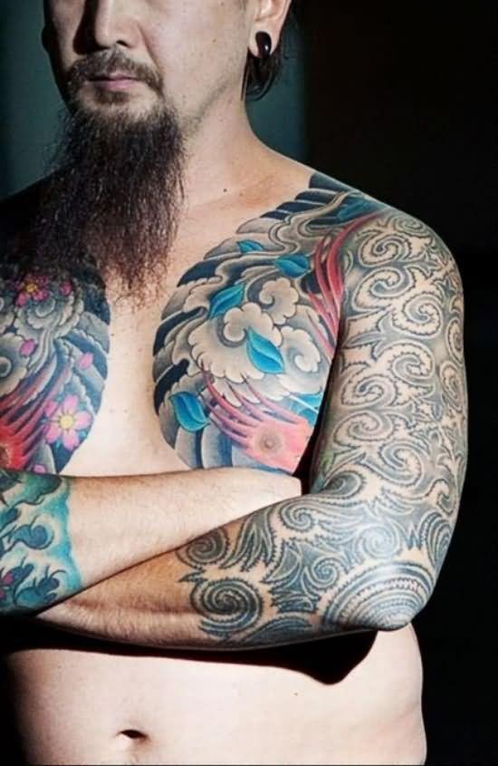 tatuajes-pecho-28 razas humanas Pinterest Tatuajes, El cuerpo