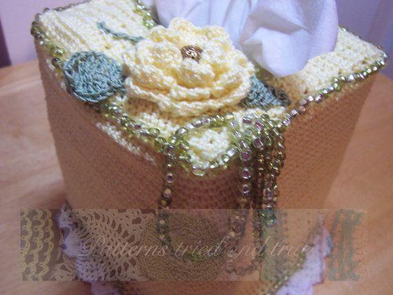 Exelent Crochet Kleenex Box Cover Pattern Ensign Easy Scarf