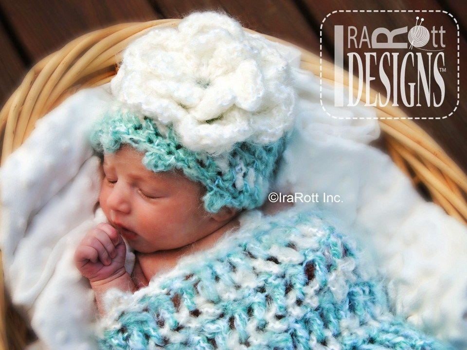 Free PDF Pattern for making a Newborn Baby Hat and Cocoon out of ...