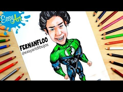 Fernanfloo Como Dibujar A Fernanfloo Estilo Linterna Verder Easy Art Youtube Como Dibujar Linterna Easy