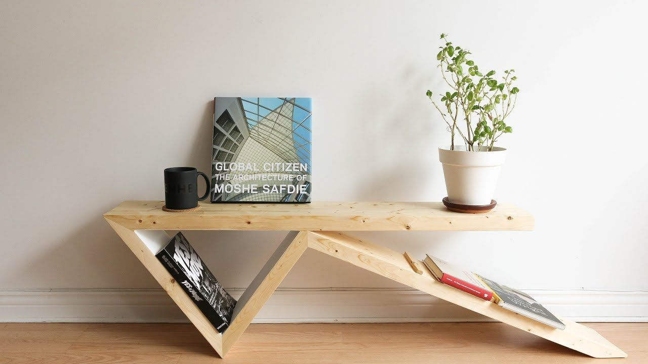 Diy bobby pin coffee table two 2x4 challenge project for Coffee table craft ideas