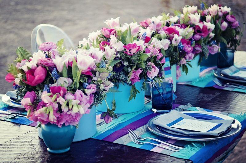 Wedding Detail Inspiration: Modern Cobalt Blue & Plum | Cobalt blue ...