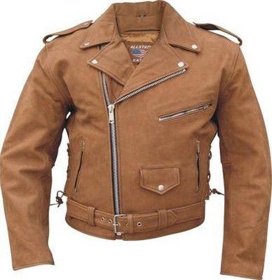 Bike Week Leathers Brown Leather Motorcycle Gear Mens Brown