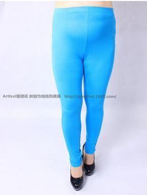 Colorful Modal Big Leggings Women Summer Pants Capris Plus Size Leggings  Candy Color Leggings Big Women Pants Bodycon Pants XXXL 1328caf8d698