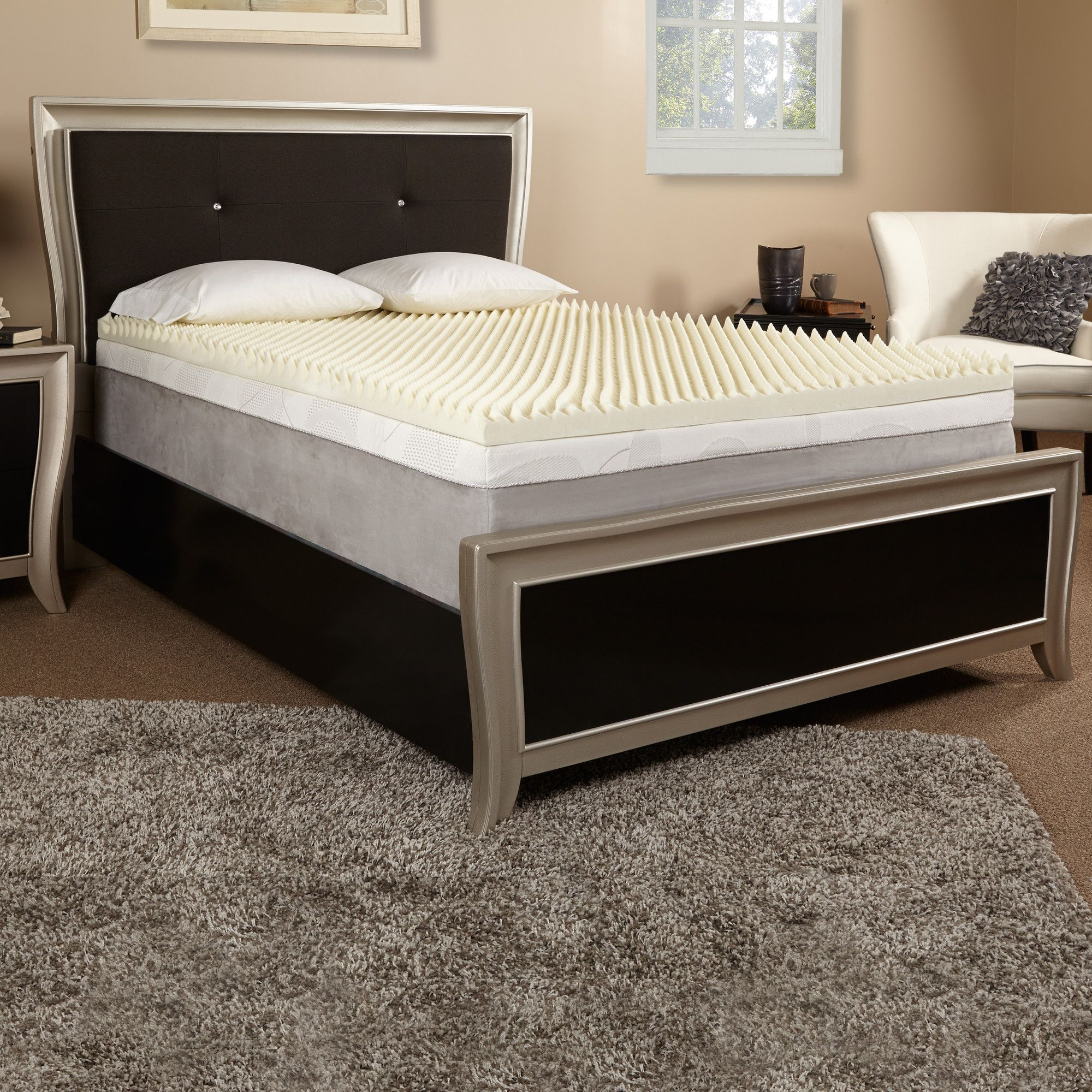 3 Textured Memory Foam Mattress Topper Memory Foam Mattress