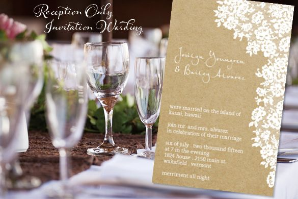 Wording For Invitations Wedding: Reception Only Invitation Wording