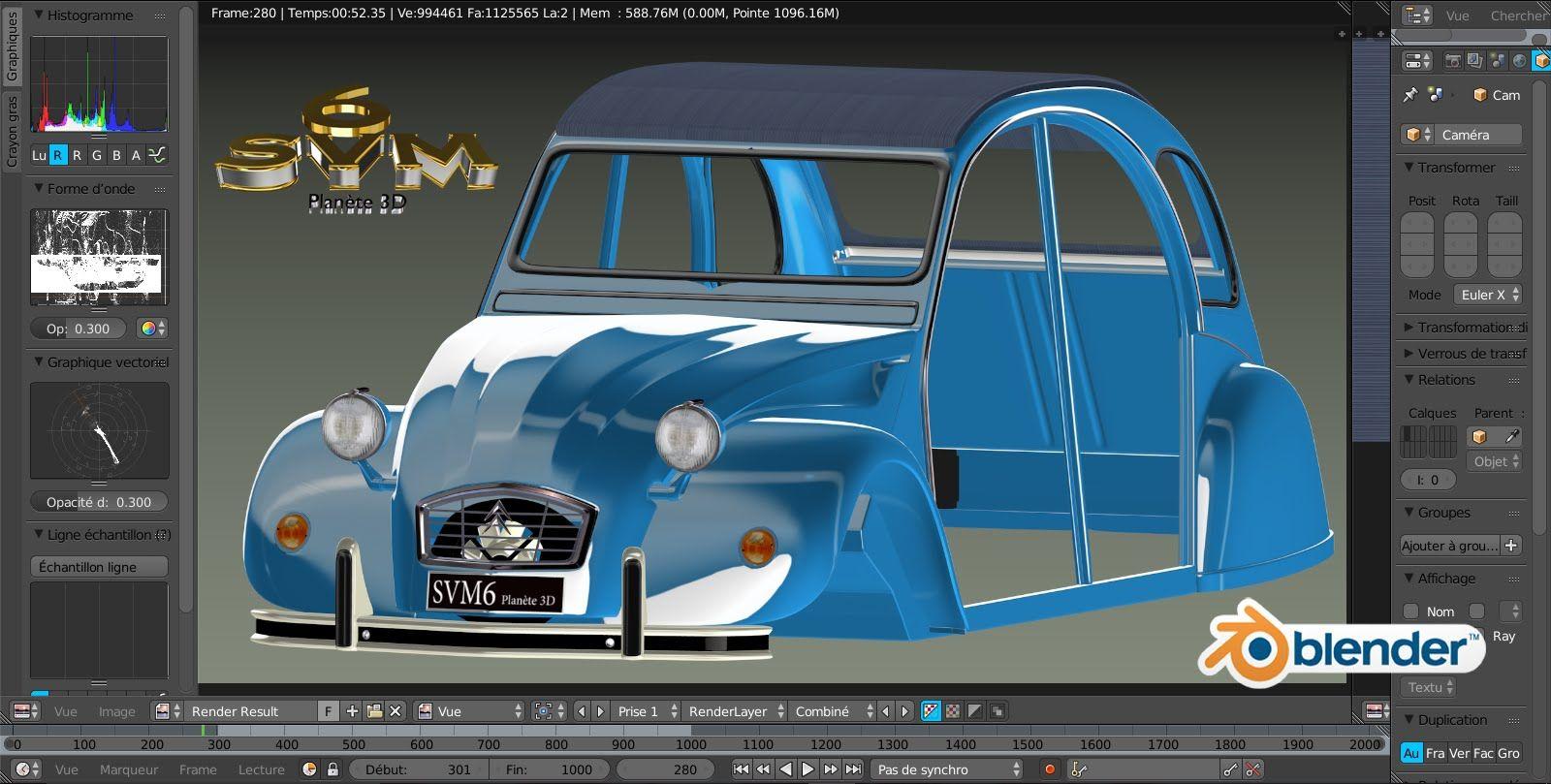 Modeliser Une Voiture 2cv Citroen A Z Tutoriel Svm6 N 60 La Capote 2cv Citroen 2cv Voiture