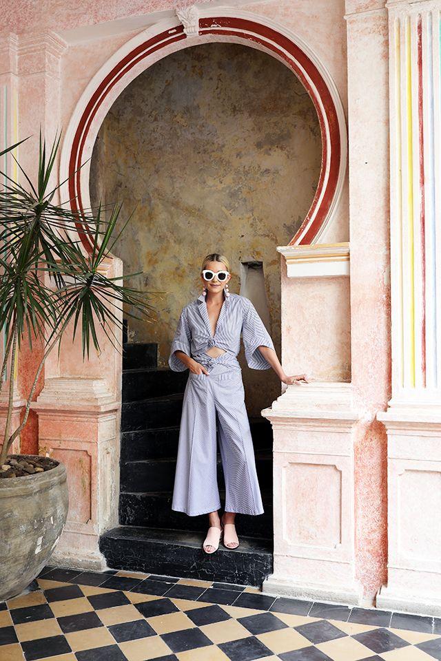 Rainbow Colors In Cartagena, Fashion Blair Eadie