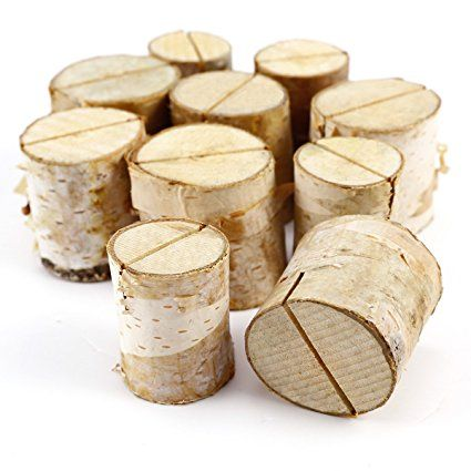 10er Holz Holzsteg Platzkartenhalter Kartenhalter Platzkarte