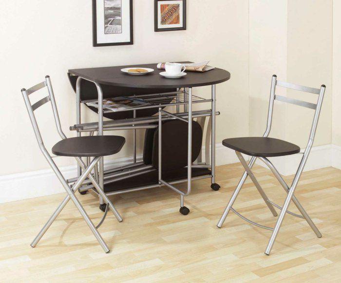 la table de cuisine pliante 50 id es pour sauver d 39 espace maison cuisine. Black Bedroom Furniture Sets. Home Design Ideas