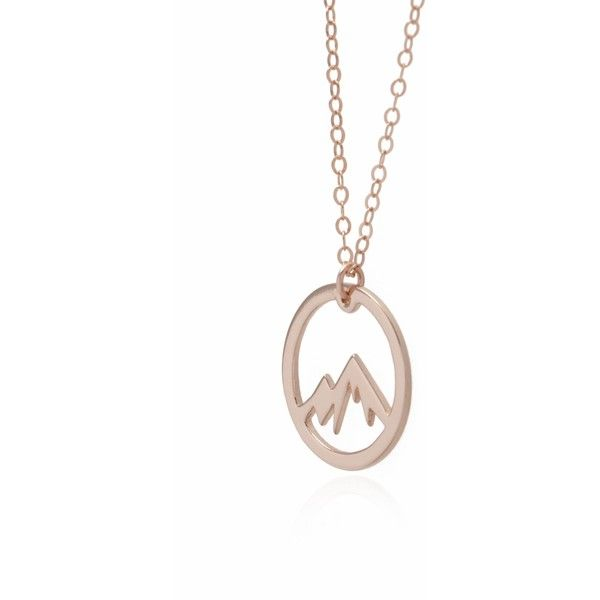 Circle Mountain Necklace Rose Gold Adventure Necklace 125 PEN