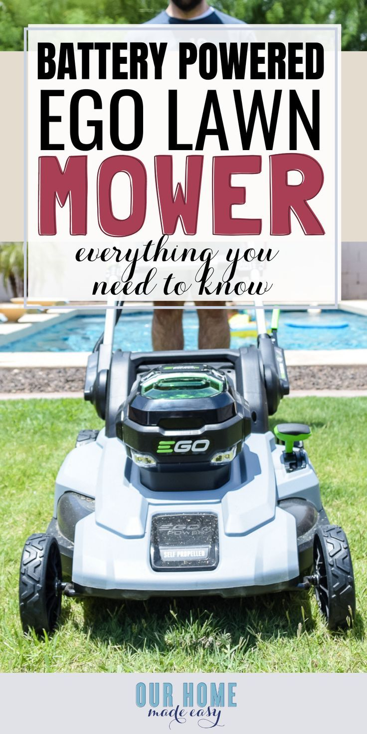 Ego Lawnmwer Review Save Time Mowing Your Lawn Battery Powered