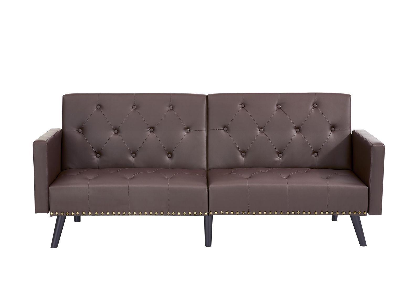 huge discount 42d47 2db4b 199.99 | Naomi Home Convertible Tufted Split Back Futon Sofa ...