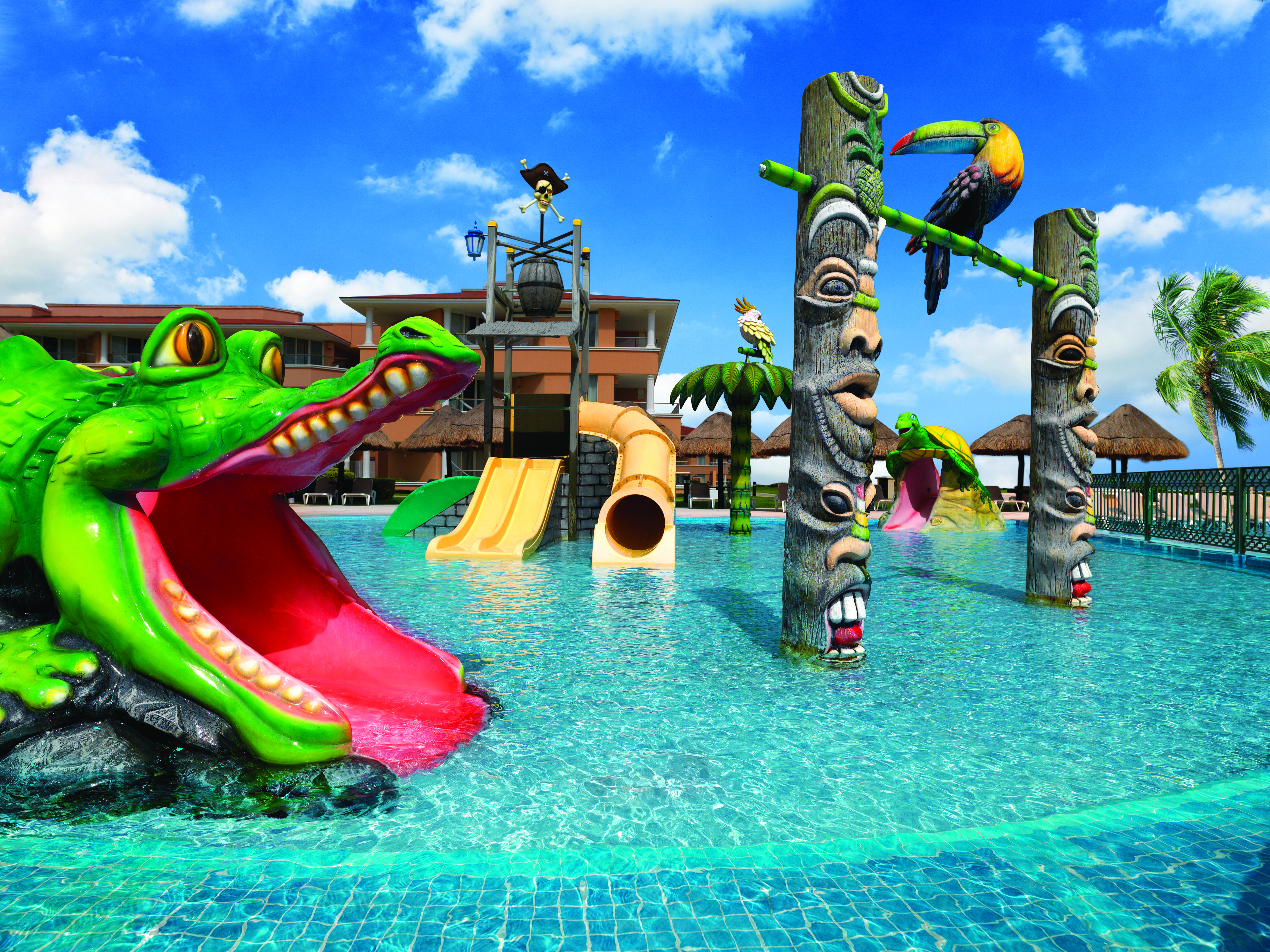 Kids Pool Area At The Moon Palace Family Resort Located In Cancun Mexico Kids Vacation Resorts For Kids Moon Palace