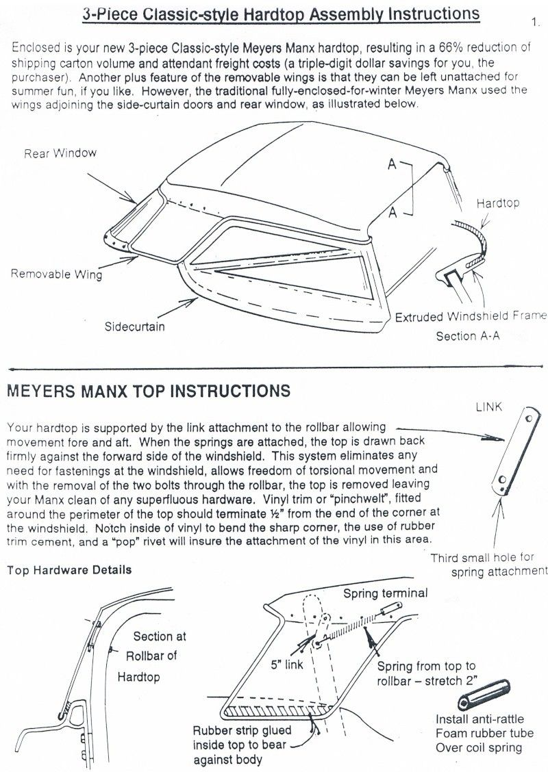 Pose d\'un Hardtop Manx | how to build a buggy | Pinterest | Manx ...