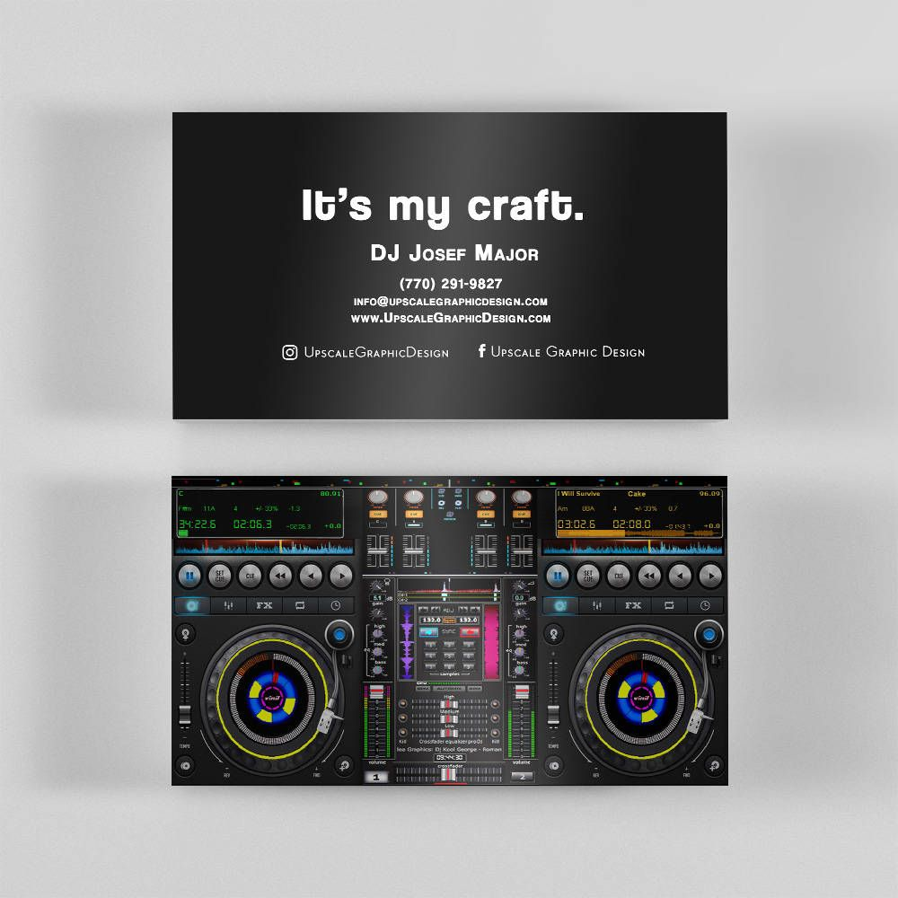 Best DJ Business Cards To Help You Get The Best Jobs | Office ...
